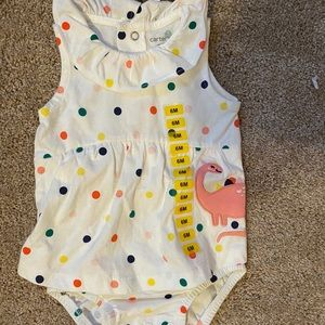 Carters polka dot Dino one piece